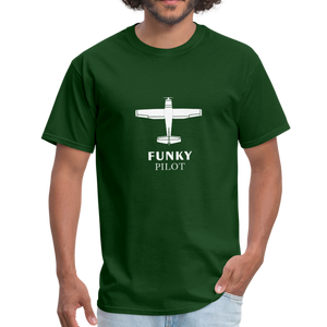 Unisex Classic T-Shirt, Single-Engine Airplane - forest green