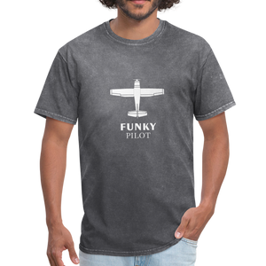Unisex Classic T-Shirt, Single-Engine Airplane - mineral charcoal gray