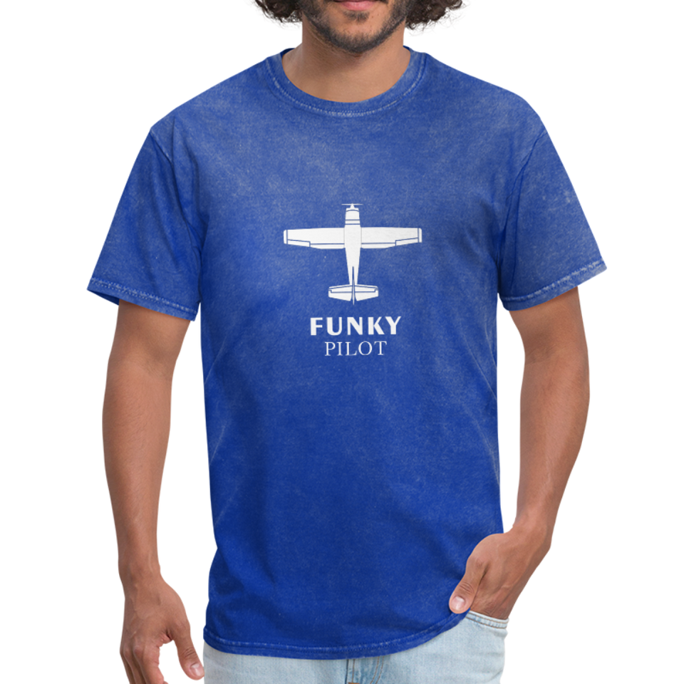 Unisex Classic T-Shirt, Single-Engine Airplane - mineral royal