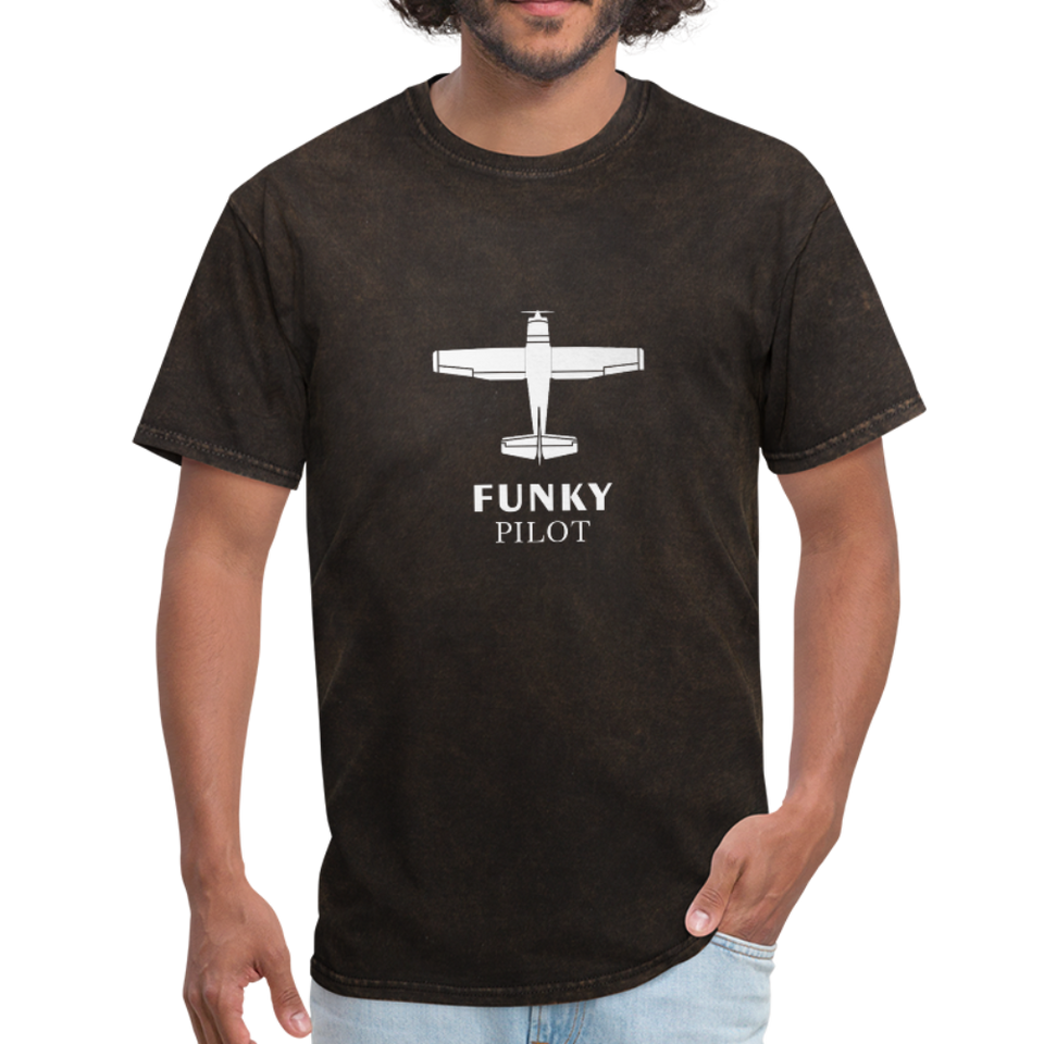 Unisex Classic T-Shirt, Single-Engine Airplane - mineral black