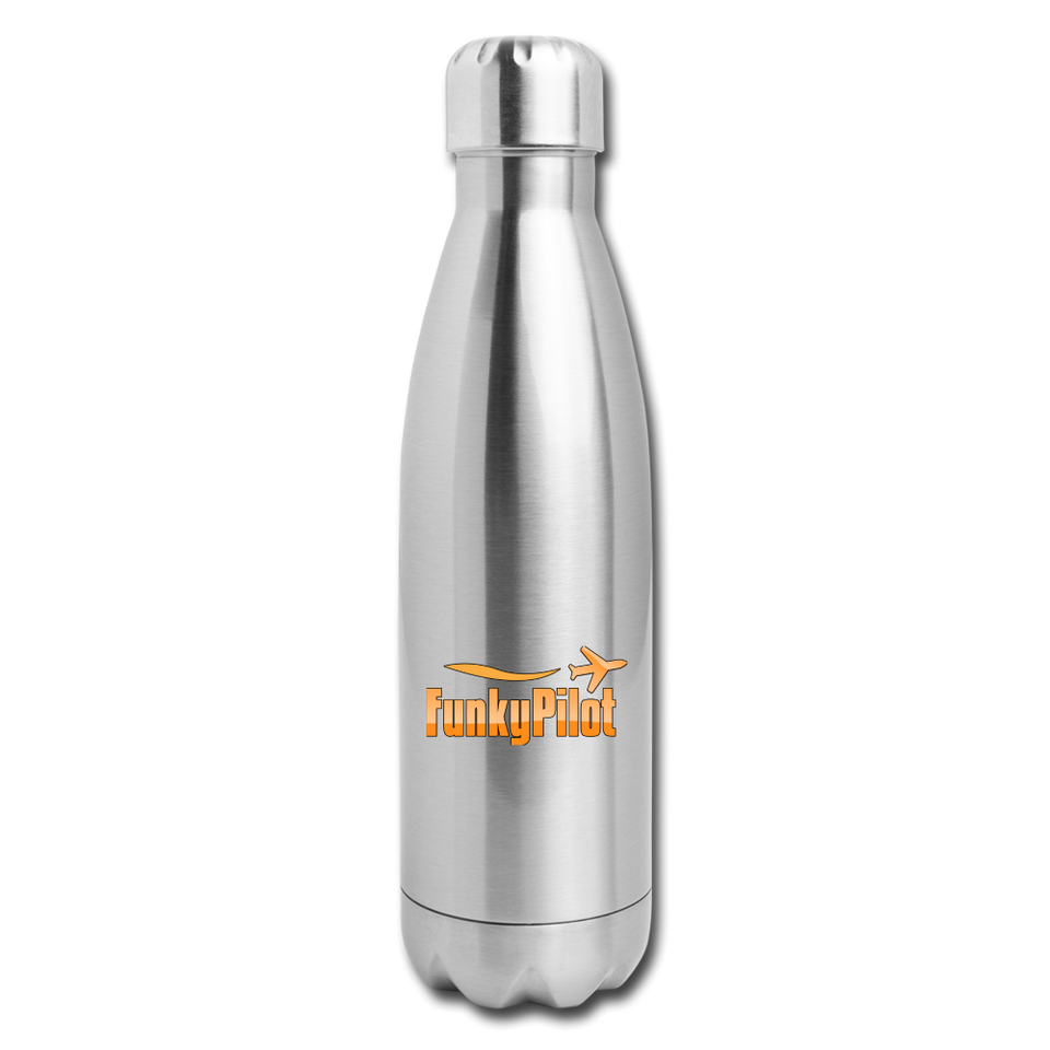 Insulated Stainless Steel Water Bottle, FunkyPilot - silver