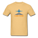 Unisex ComfortWash Garment Dyed T-Shirt, I Love Flying - light yellow