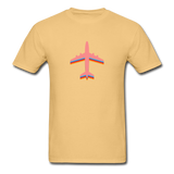 Unisex ComfortWash Garment Dyed T-Shirt, Pink Airplane - light yellow