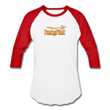 Baseball T-Shirt, FunkyPilot Logo - white/red