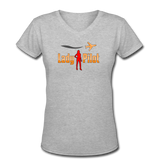 Women's V-Neck T-Shirt, Lady Pilot 2 - gray