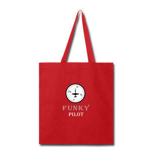 Tote Bag, FunkyPilot Compass - red