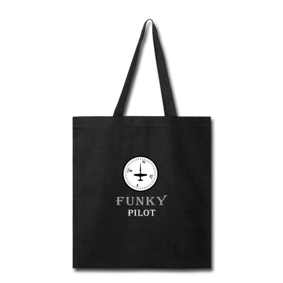 Tote Bag, FunkyPilot Compass - black