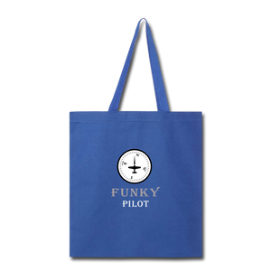 Tote Bag, FunkyPilot Compass - royal blue