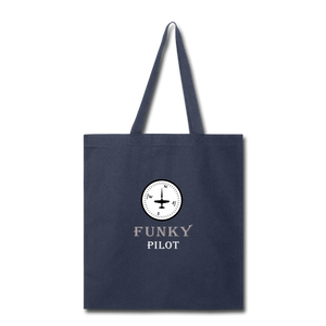 Tote Bag, FunkyPilot Compass - navy