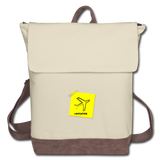 Canvas Backpack, Aviator Note - ivory/brown