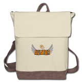 Canvas Backpack, Aviator Three Jets - ivory/brown