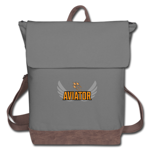 Canvas Backpack, Aviator Three Jets - gray/brown