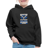 Kids' Premium Hoodie, Aviation 101 - black