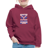 Kids' Premium Hoodie, Aviation 101 - burgundy