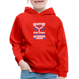 Kids' Premium Hoodie, Aviation 101 - red