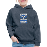 Kids' Premium Hoodie, Aviation 101 - heather denim