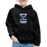 Kids' Premium Hoodie, Aviation 101 - charcoal gray