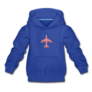 Kids' Premium Hoodie, Pink Airplane - royal blue