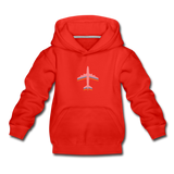 Kids' Premium Hoodie, Pink Airplane - red