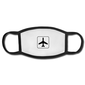 Face Mask, Adult, Airplane Sign - white/black