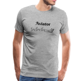 X-mas Aviator Premium T-Shirt - heather gray