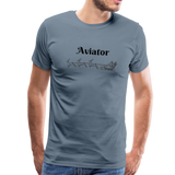 X-mas Aviator Premium T-Shirt - steel blue