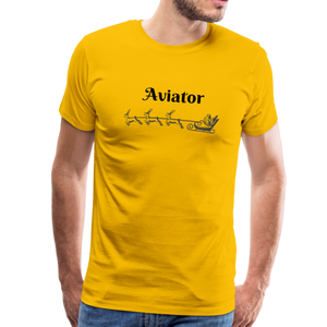 X-mas Aviator Premium T-Shirt - sun yellow