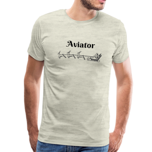 X-mas Aviator Premium T-Shirt - heather oatmeal