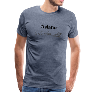 X-mas Aviator Premium T-Shirt - heather blue