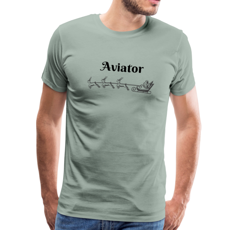 X-mas Aviator Premium T-Shirt - steel green