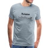 X-mas Aviator Premium T-Shirt - heather ice blue