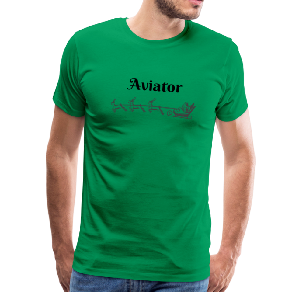 X-mas Aviator Premium T-Shirt - kelly green