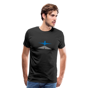 Men's Premium T-Shirt - Airplane Taking Off - black