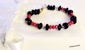 Bead Baby - Bracelet in Black and Red - D-Nadz Jewelry
