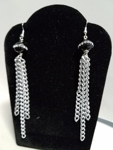 Silver Flow Earrings - D-Nadz Jewelry