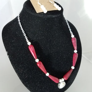Red Hot Pearl Necklace - D-Nadz Jewelry