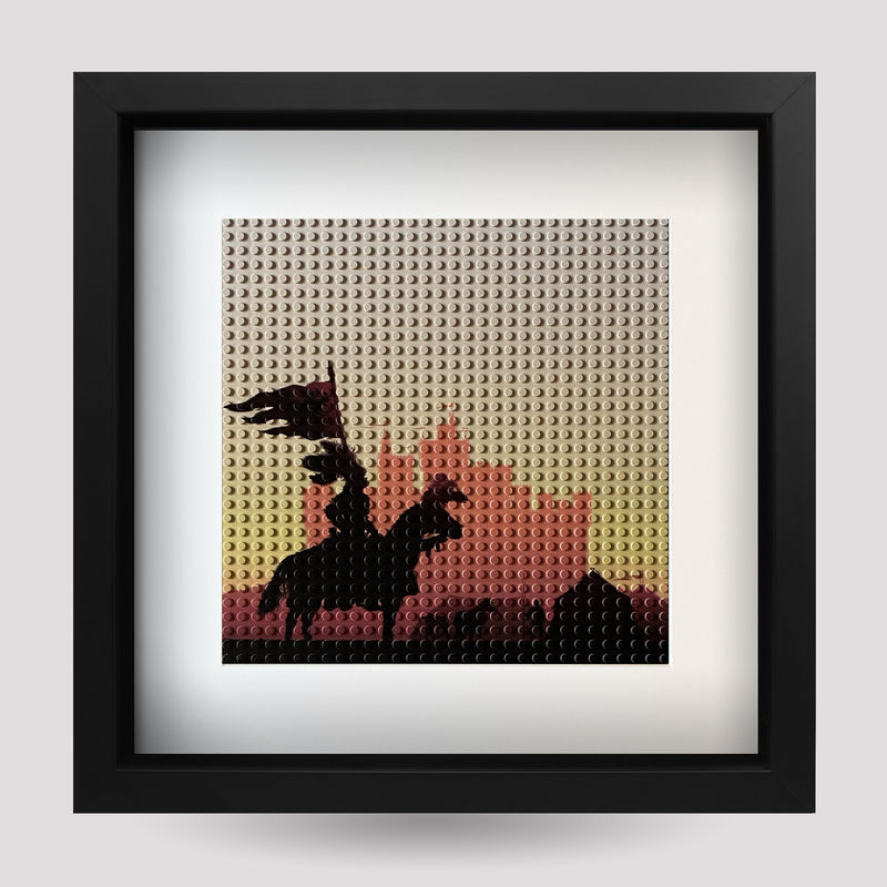 Display Frame Black - Knight and Castle