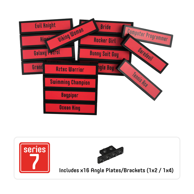 Minifigure Tags for The LEGO® Collectible Minifigure Series 7 (set# 8831)