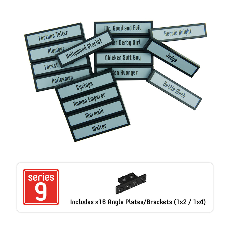 Minifigure Tags for The LEGO® Collectible Minifigure Series 9 (set# 71000)
