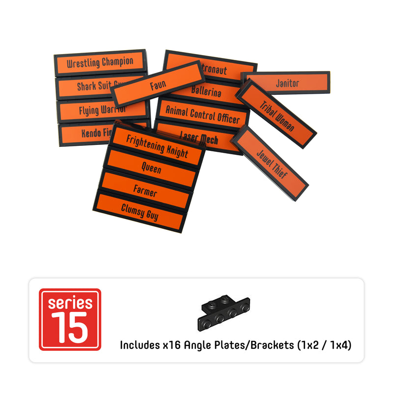 Minifigure Tags for The LEGO® Collectible Minifigure Series 15 (set# 71011)