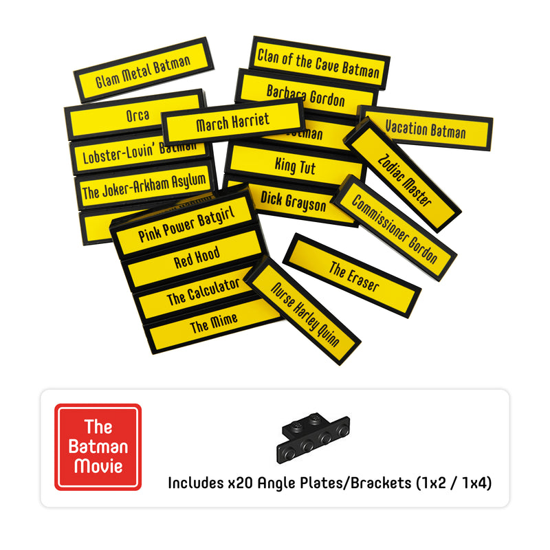 Minifigure Tags for The LEGO® Batman Movie 1 (set# 71017)
