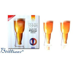 Double Double Glass Pilsner 350 ml set of 2