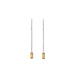 18-carat white gold elina earrings