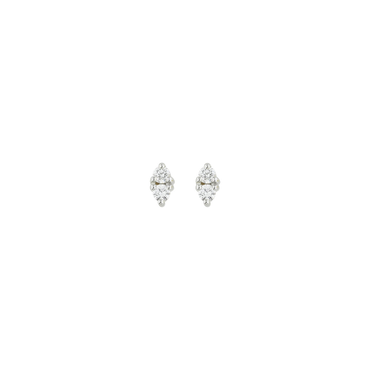 18 carat white gold emelie studs