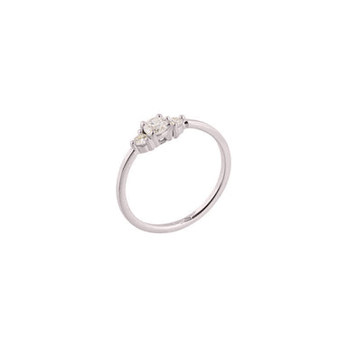 18-carat white gold renée ring