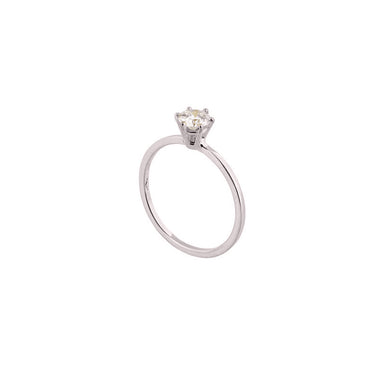 18-carat white gold rosalie ring