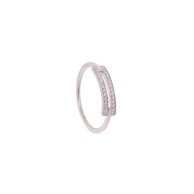 18-carat white gold roxanne ring