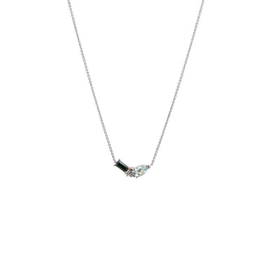 18 carat white gold noor necklace