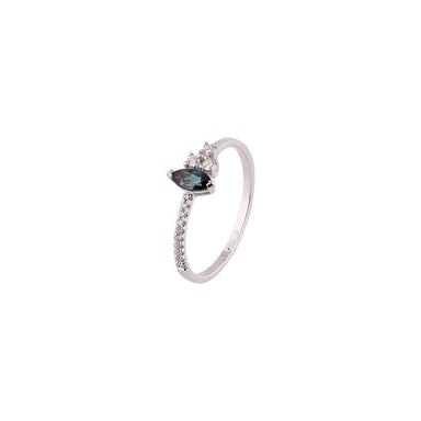 18-carat white gold rachelle ring