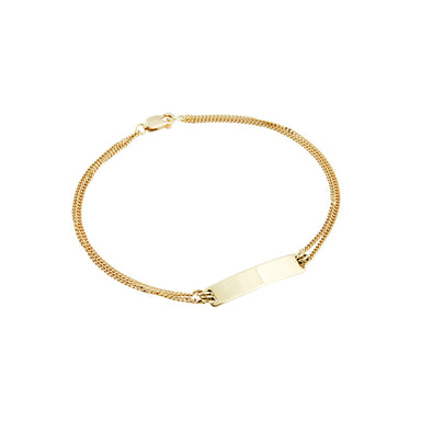 18 carat yellow gold beau bracelet